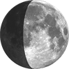 Last Quarter, Moon at 21 days in cycle